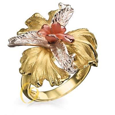кольцо из белого золота и бриллиантов